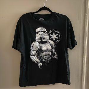 Men's Star Wars Mandalorian Black Shirt Size XL